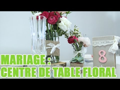 r aliser un centre de table champ tre pour votre mariage youtube. Black Bedroom Furniture Sets. Home Design Ideas