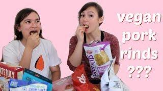 Vegan Taste Test // Pork Rinds, Cheese Snacks + More!