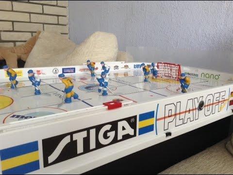 STIGA Play Off Table Hockey short view. - YouTube