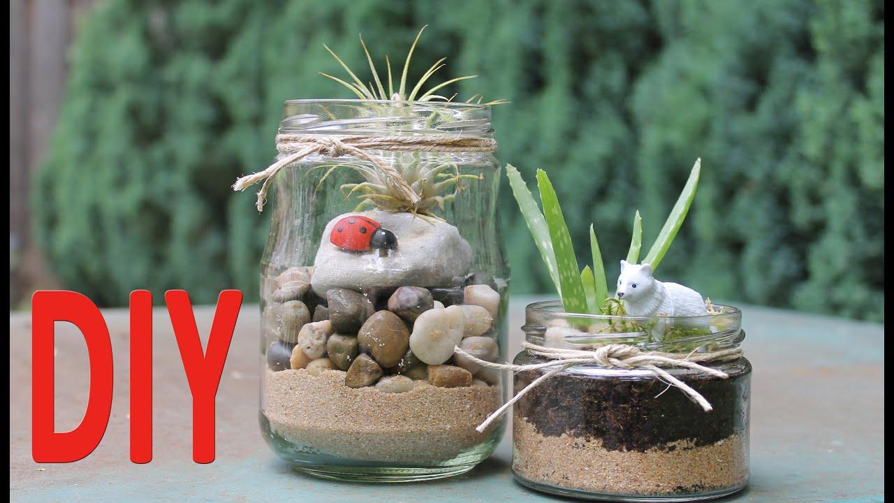 Diy Mason Jar Terrariums Upcycle Youtube
