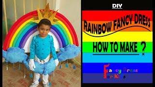 Rainbow fancy dress for kids tutorial/How to make?/ costume DIY