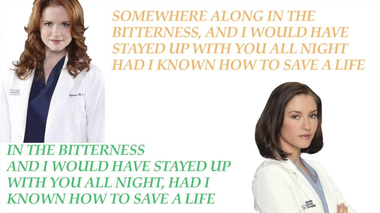 How to save a life - Grey\'s Antomy Cast (Lyrics) - YouTube