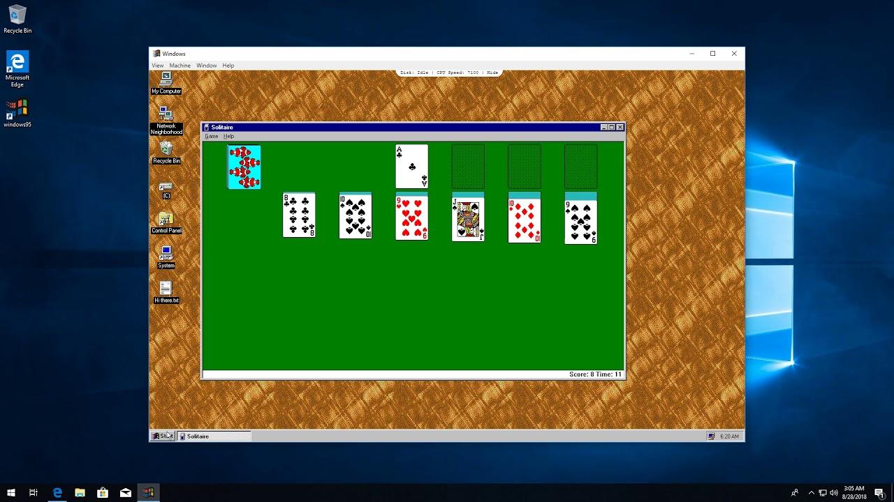 Windows 95 on an App thing