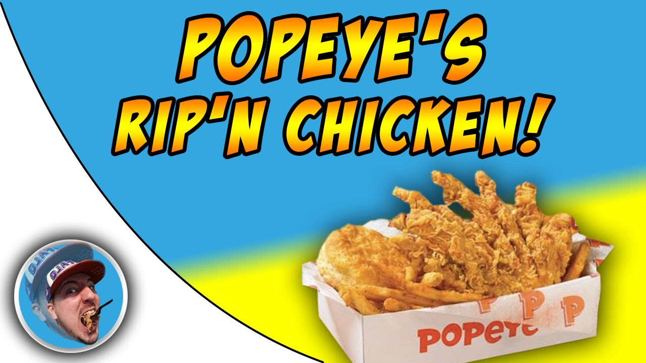 Popeye\'s Rip\'n Chicken! - Food Review! - YouTube