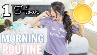 My 1 Hour Mommy Morning Routine! 2017