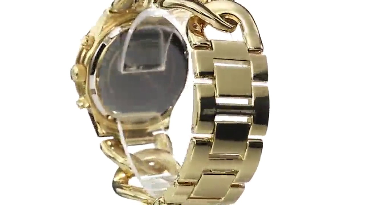 Michael Kors Mk3131 Womens Runway Gold Tone Watch Black Friday Amazon 2016