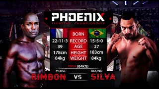 Moise Rimbon vs Bruno Silva Full Fight (MMA) - Phoenix 1