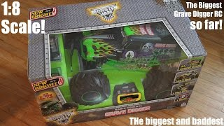 Toy Unboxing: 1:8 Scale RC New Bright Monster Jam Truck Grave Digger