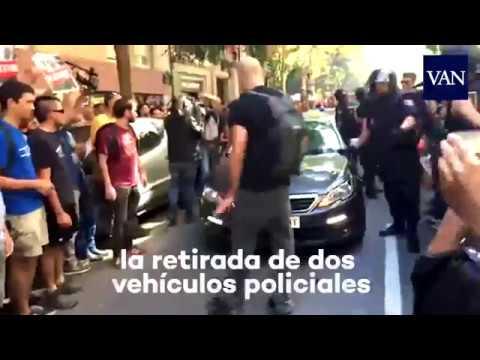 Tensión a la llegada de la Policía Nacional a la sede de la CUP
