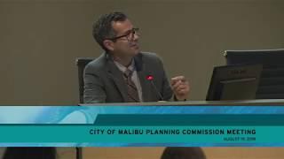 Malibu Planning Commission Meeting August 19 2019