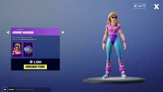 Fortnite *NEW* item shop | New Mullet Maruader and aerobic assassin skins | August 12 / 2018