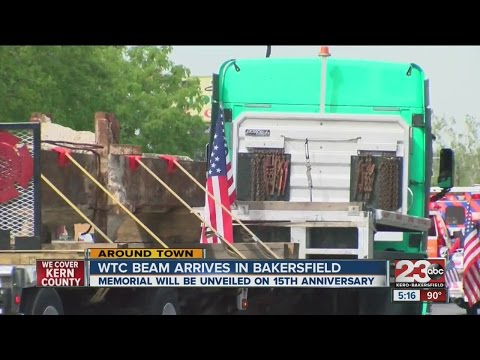 WTC beam arrives in Bakersfield