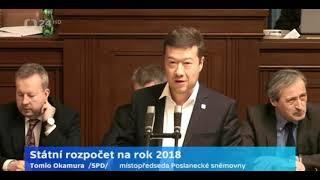 STÁTNÍ ROZPOČET 2018 / Andrej Babiš, Mir. Kalousek a Tomio Okamura