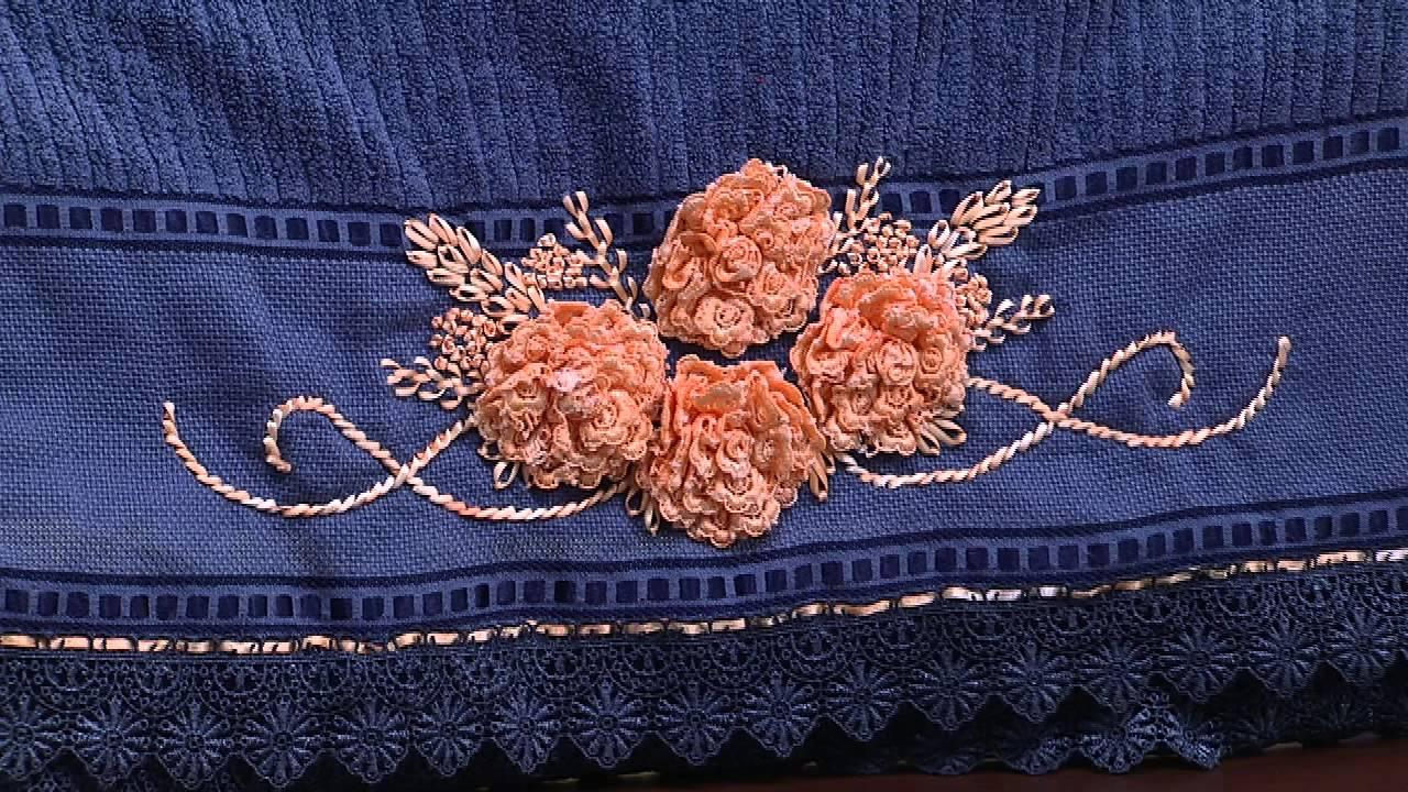 Artesanato Origami Passo A Passo ~ Mulher com 05 02 2015 Bordado flores por Zilda Mateus Parte 1