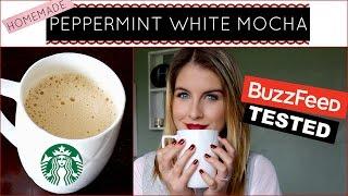 Homemade Starbucks Peppermint White Mocha | Buzzfeed Tested