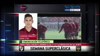"""Leandro Paredes """"Hay un cambio de actitud y juego que beneficia a Boca"""""""