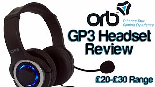 Orb Accessories GP3 Headset Review XboxOne PS4 Compatible