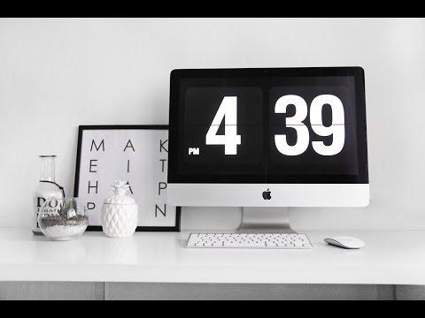 Заставка часы для Mac | Бесплатная стильная заставка для рабочего стола Fliqlo