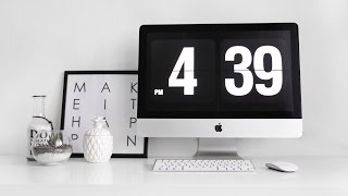 Заставка годинник для Mac | Безкоштовно стильна заставка для робочого столу Fliqlo