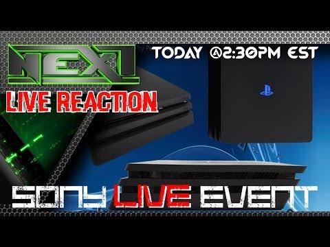 Sony's Live Event, Live Reaction!!!! #NextPodcast Crew!!!!
