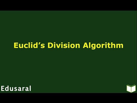 Euclid's Division Algorithm | Basic of Real Numbers | Ch-1.2.b- 10th Std NCERT | Edusaral