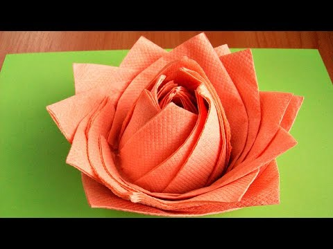 How to make an easy rose from paper napkins. Table decoration ideas for parties