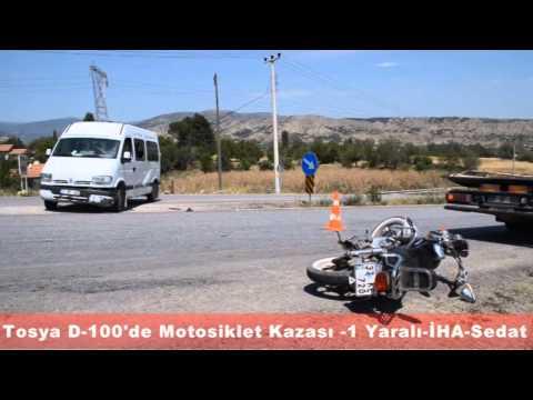 Tosya D-100'de Motosiklet kazası