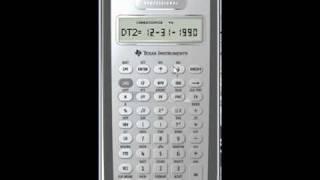 Business Math 1 - Calculator Texas BAII Plus Days between Dates Calculation