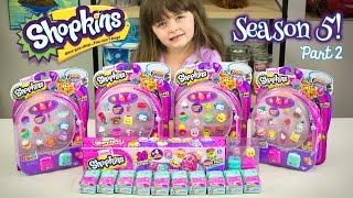 SHOPKINS SEASON 5 Unboxing Part 2! Shopkins Hunt For a Limited Edition Shopkin Kinder Playtime