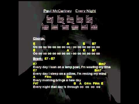 Paul McCartney - Every Night (Guitar Chords, Backing Track, Lyrics ...