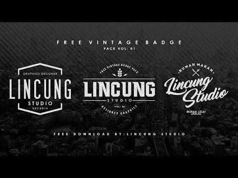 FREE DOWNLOAD VINTAGE BADGE Template (PSD File) - (DAILY DESIGN 07)