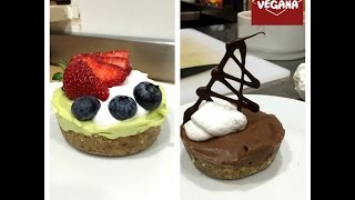 Tartaletas de alubias Lima-Chocolate. REPOSTERÍA NUTRITIVA