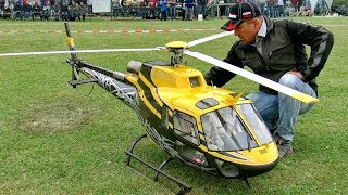 HUGE XXL RC AS-350 ECUREUIL SCALE MODEL TURBINE HELICOPTER FLIGHT DEMONSTRATION