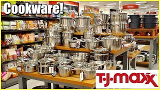 TJ MAXX KITCHENWARE, COOKWARE, ALL CLAD POTS & PANS HOME IDEAS SHOP WITH ME STORE WALKTHROUGH 2020