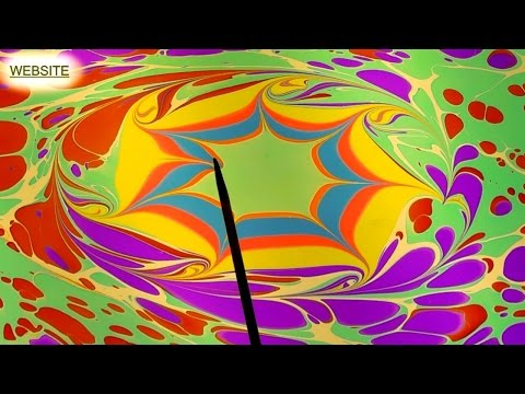 EBRU ART Water MARBLING | Ebru paint made CAPITELLO art paints factory