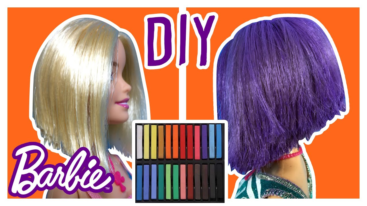 Diy how to dye barbie doll hair change barbie hair color diy how to dye barbie doll hair change barbie hair color barbie tutorial making kids toys solutioingenieria Gallery