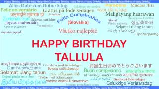 Tallula   Languages Idiomas - Happy Birthday