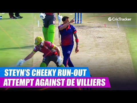 MSL 2019: Dale Steyn's cheeky run-out attempt against AB de Villiers