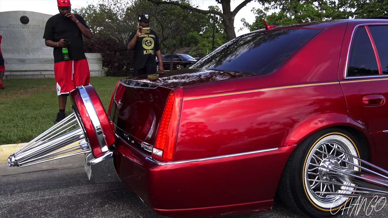 Candy Red Cadillac Dts Trunk Knocking - YouTube