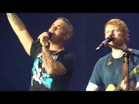 ANGELS - ROBBIE WILLIAMS ft. ED SHEERAN (AMSTERDAM LIVE 2018)
