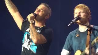 ANGELS - ROBBIE WILLIAMS ft. ED SHEERAN (AMSTERDAM LIVE 2018)