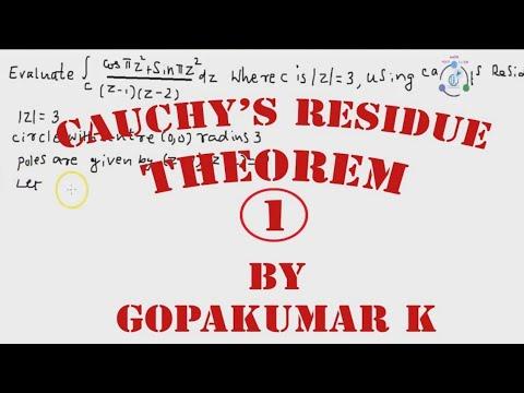 Cauchy's Residue Theorem Part-1(Engineering Maths-(KTU,Kerala ,Anna University)