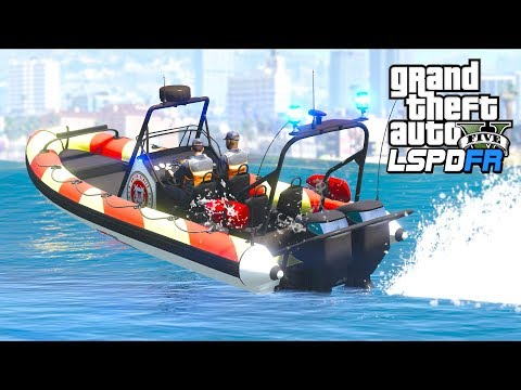 GTA 5 - LSPDFR Ep383 - US Coast Guard Looking for Narcotics!!
