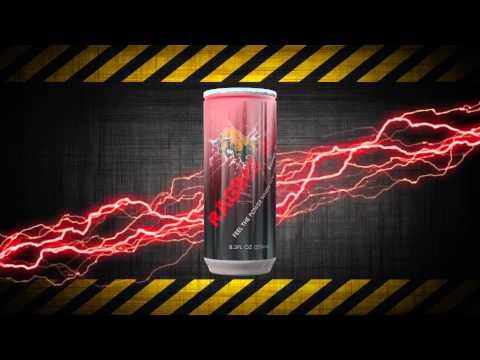 3D Energy Drink packshot
