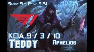 T1 Teddy APHELIOS vs XAYAH ADC - Patch 9.24 KR Ranked