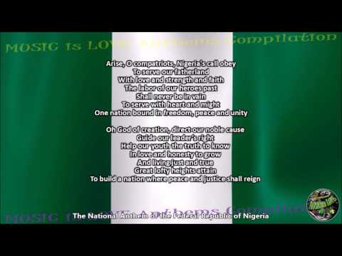 Nigeria National Anthem with music, vocal and lyrics English