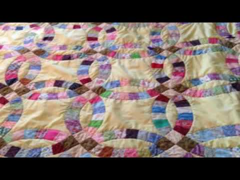 beginners quilt patterns free easy double wedding ring quilt - Double Wedding Ring Quilt Pattern