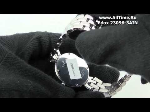 Женские наручные швейцарские часы Edox 23096-3AIN