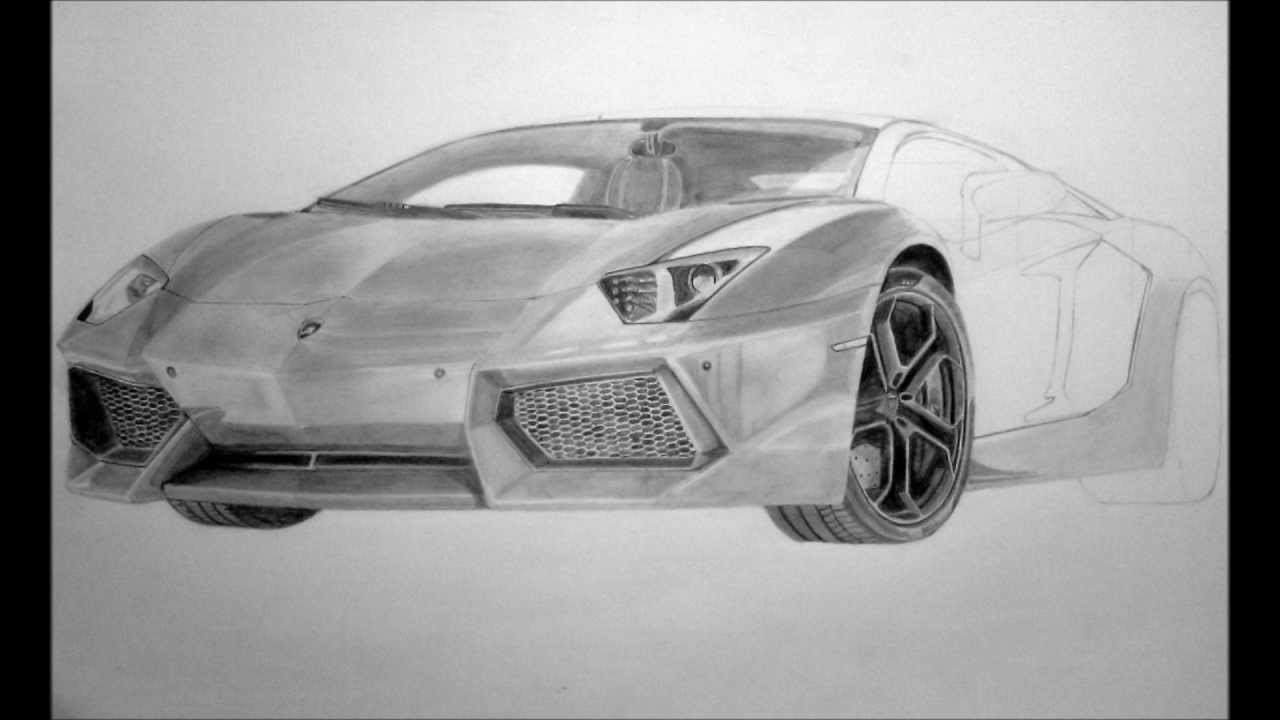 Lamborghini Aventador LP700-4 Pencil Drawing - YouTube