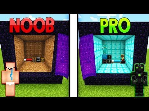 Minecraft NOOB VS PRO- DOMEK W PORTALU W MINECRAFT!